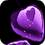 Purple Hearts Final Live Wallpaper