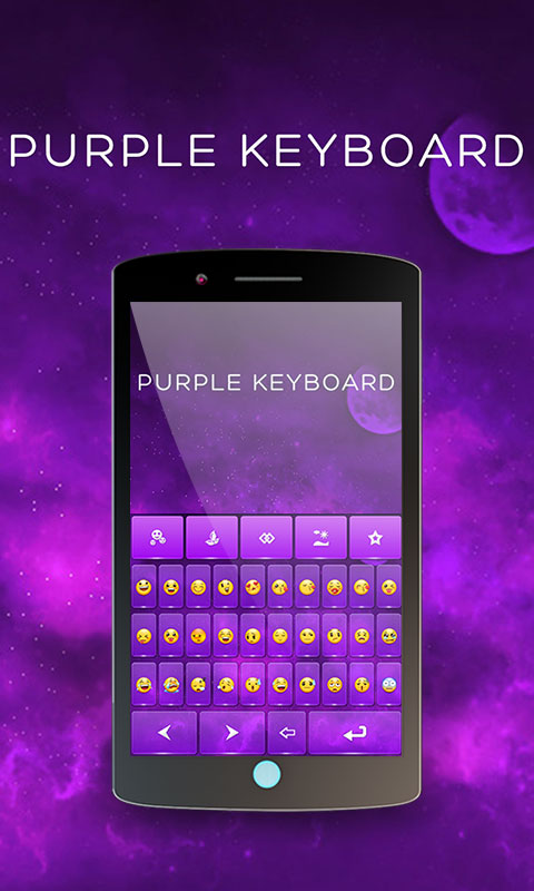 Purple Keyboard Theme Android App Free Apk By