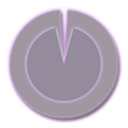 Image of Purple Polarizer Analog Clock