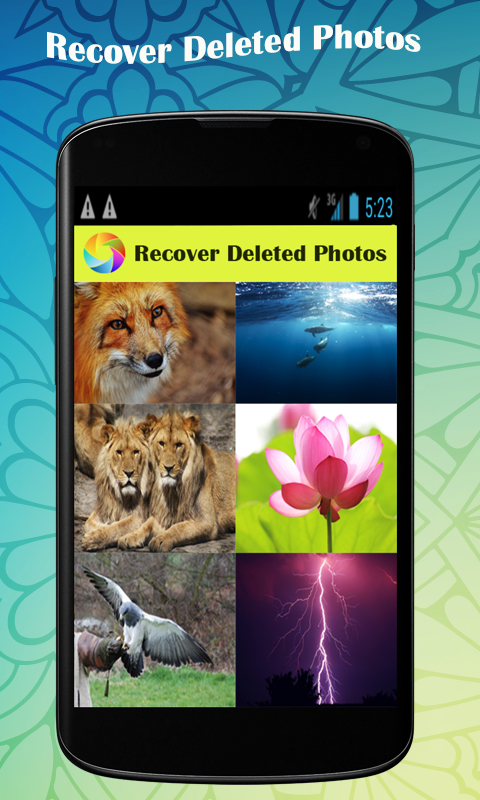 Photo recovery android phone app
