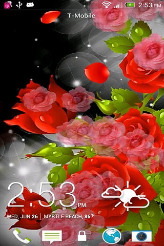 Red Rose Party Live Wallpaper Android Download