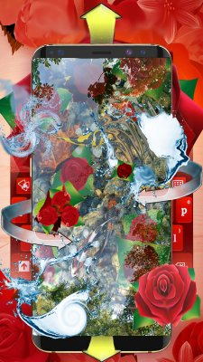 Red Roses Live Wallpaper Koi Fish screenshot 1