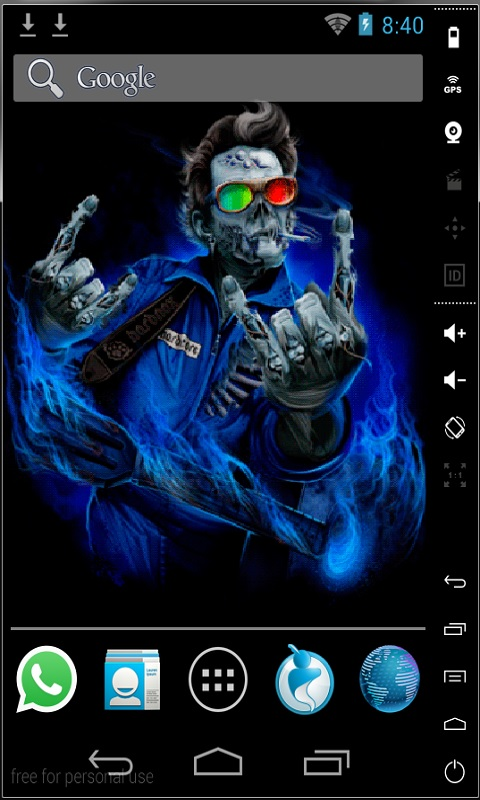 rocker zombie live wallpaper free app download for android