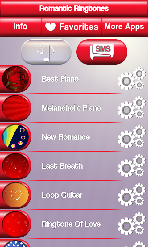 Romantic Ringtones New screenshot 2