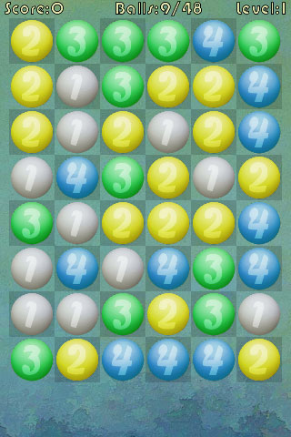 SameGame Balls Breaker screenshot 1