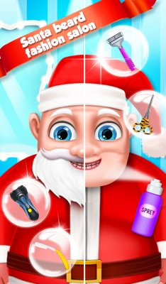 Santa Beard Salon Game screenshot 1