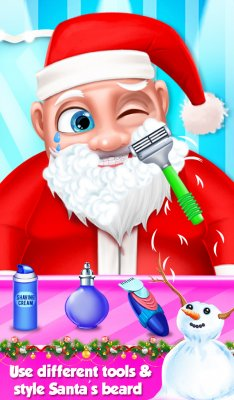 Santa Beard Salon Game screenshot 2