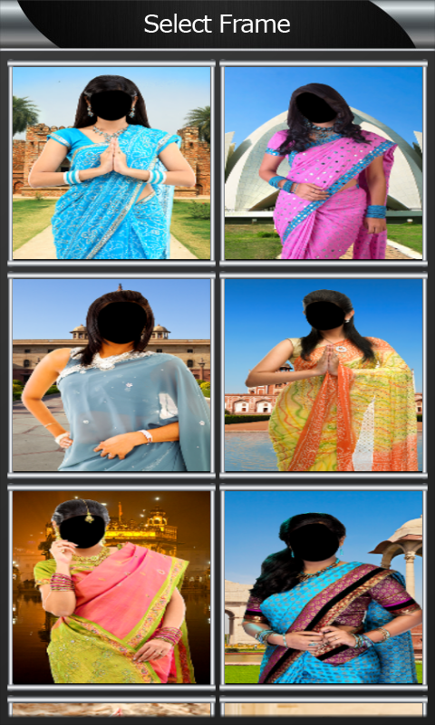 Saree Photo Montage screenshot 2