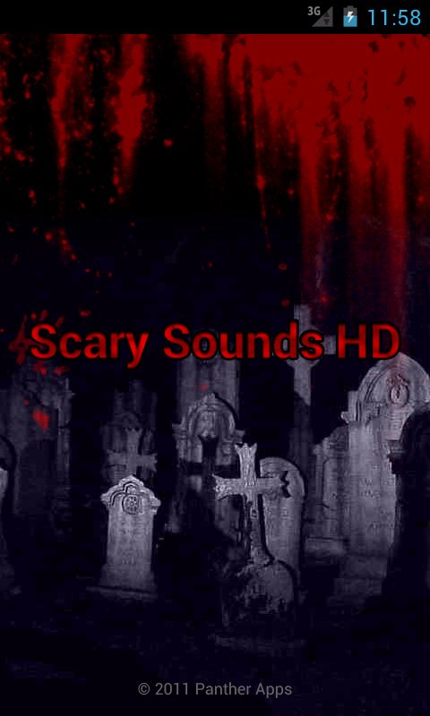 Scary Sounds HD screenshot 1