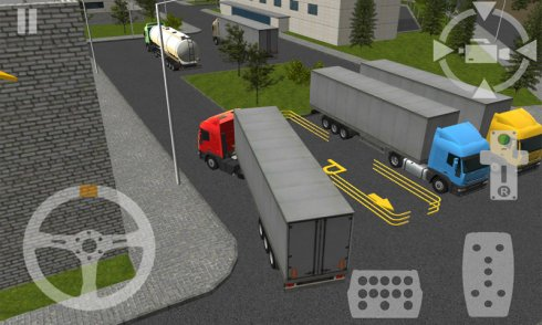 Semi Driver Trailer Parking 3D screenshot 1