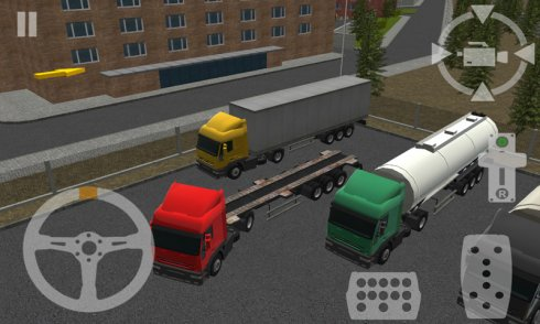 Semi Driver Trailer Parking 3D screenshot 2