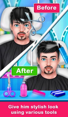 Shave Prince Beard Hair Salon Barber Shop Game screenshot 2