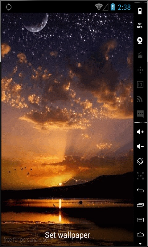 Shiny Sunset Live Wallpaper Android Download
