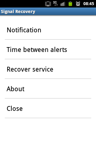 Signal Recovery screenshot 1