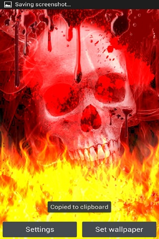 Skull Blood Drip On Fire Lwp Android App Apk By