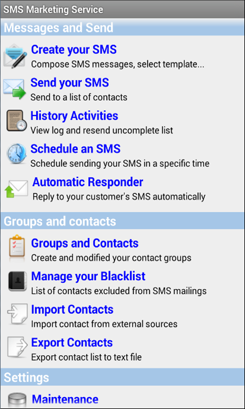 Mobile SMS Marketing for Android - Download