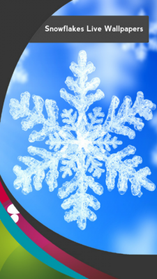 Snowflakes Live Wallpapers screenshot 1