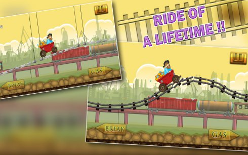 Speedy Gold Miner Rail Rush screenshot 1