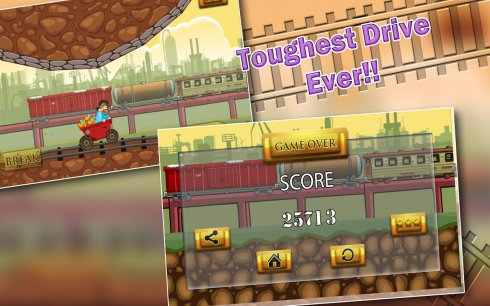 Speedy Gold Miner Rail Rush screenshot 2