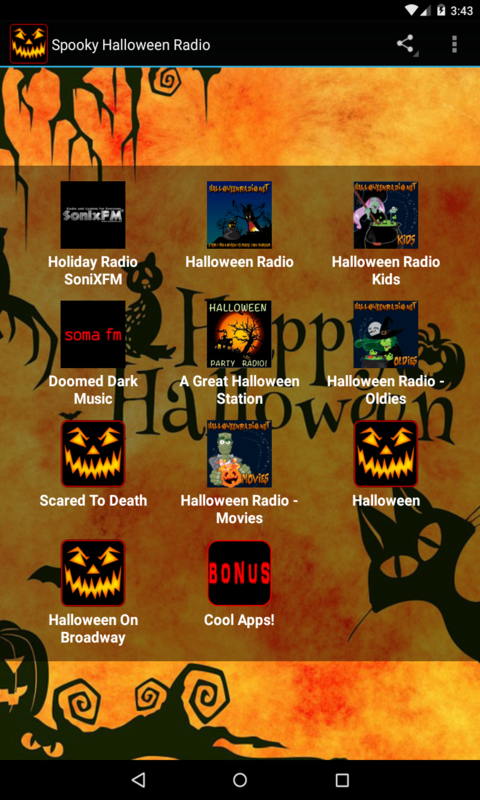 Spooky Halloween Radio free android app - Android Freeware