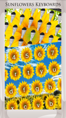 Sunflowers Keyboards screenshot 1