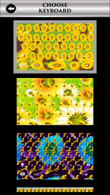 Sunflowers Keyboards screenshot 2