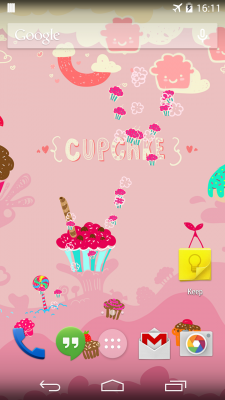 Sweet Cupcake LiveWallpaper screenshot 1