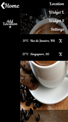 Tasty Coffee Clock Widget screenshot 2
