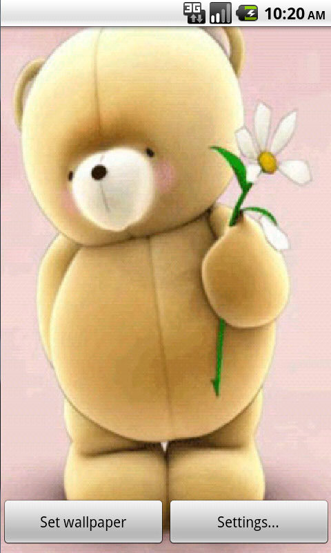Download Teddy And Flower Wallpapers APK free for your Android phone