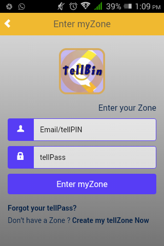tellBin screenshot 1