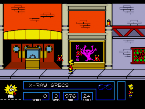 The Simpsons Bart vs The Space Mutants 01 screenshot 2