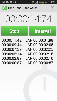 Time Boss stopwatch and timer app for Android - Download