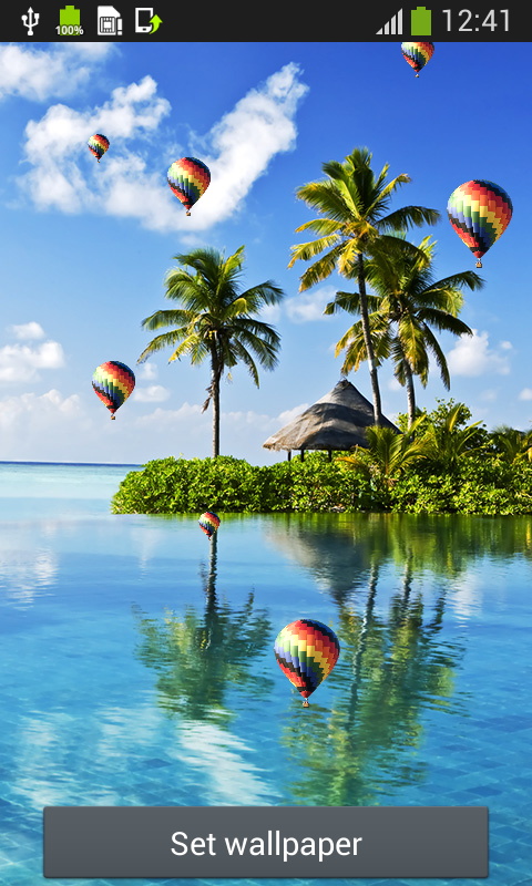 Tropical Beach Live Wallpapers Free Apk Android App Freeware Download