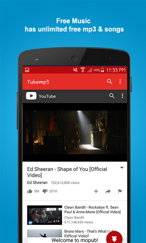 Music tube mp3 downloader for (android) free download on mobomarket.