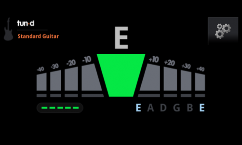 Tun-d Free Guitar Tuner screenshot 1