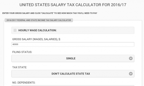United States Salary Tax Calculator for Android - Download