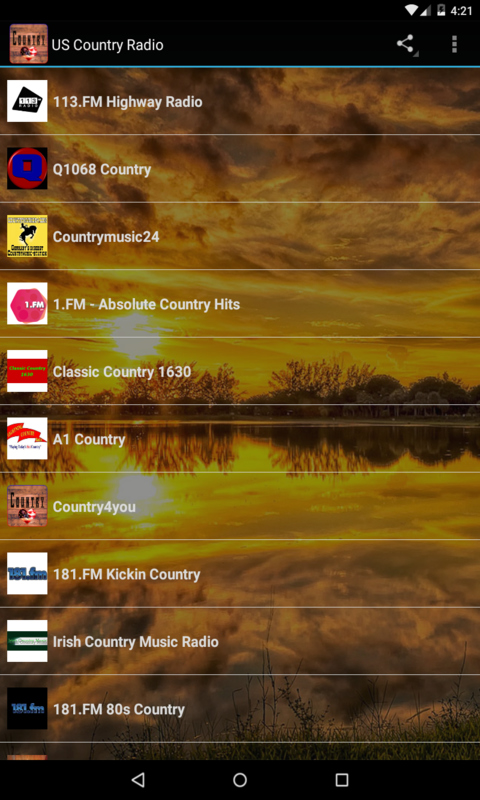 USA Country Radio screenshot 1