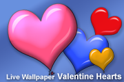 Valentine Hearts LiveWallpaper screenshot 1