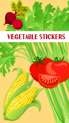 Vegetable Stickers Free screenshot 1