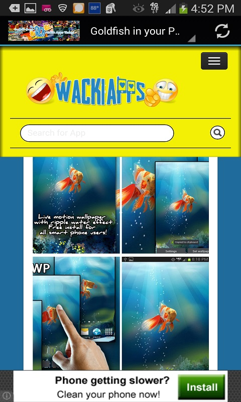 WackiApps Live Wallpapers Free App Download Android Freeware