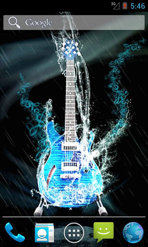 Water Guitar Live Wallpaper Android App APK by andapplique