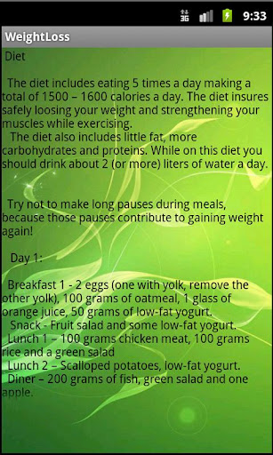 Weight Loss Tips And a Diet screenshot 2