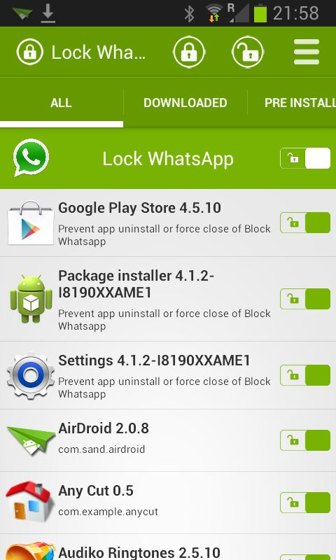 WhatsApp Lock screenshot 2