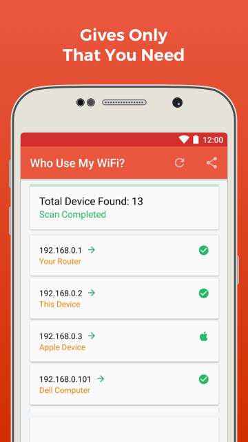 Who Use My WiFi Android App - Free APK by SpeedNet