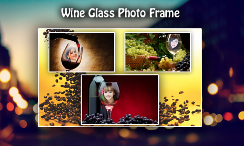 download wine glass photo frame