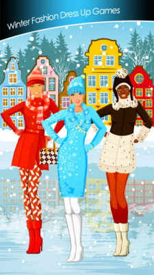 Winter fashion dress up games free app download for android