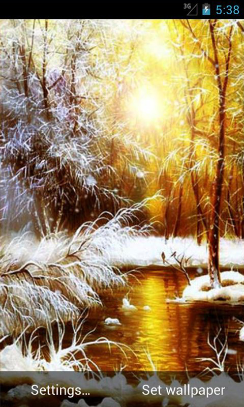 Download Winter Morning Live Wallpaper
