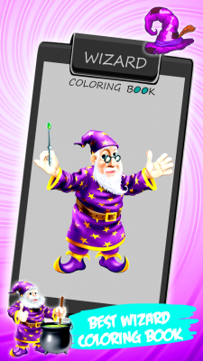 Wizard Coloring Book screenshot 1