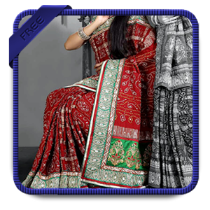 Image of Women Saree Photo Making