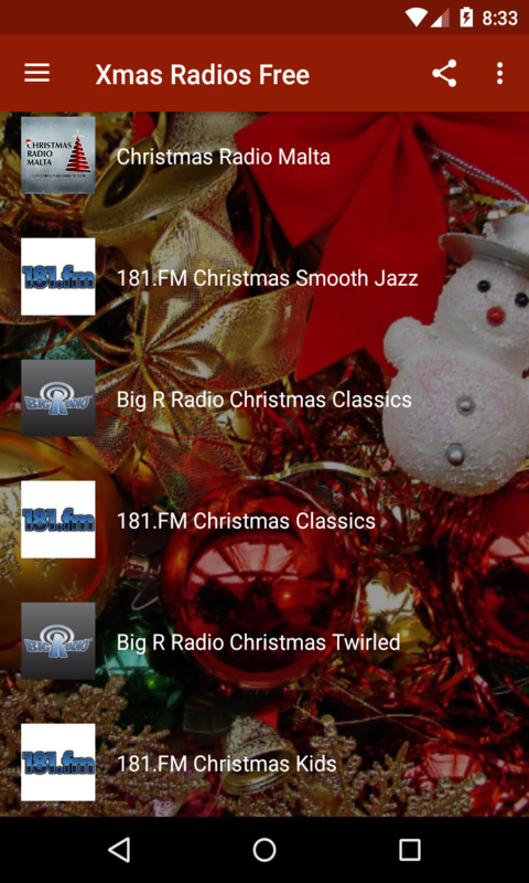 Xmas Radios Free screenshot 1